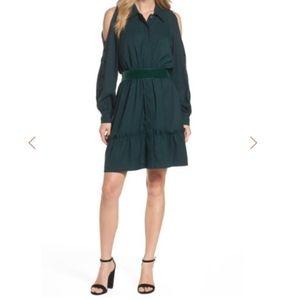 Eliza J Cold Shoulder Shirtdress Size XS